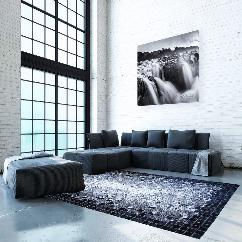 Leather area rugs by Inkomo Products