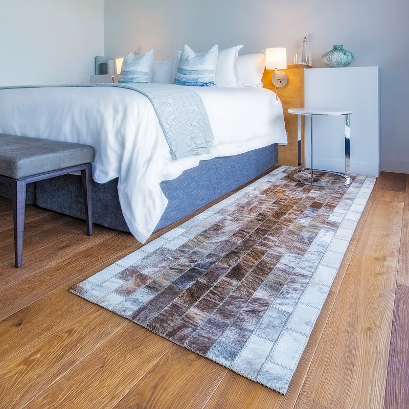 Leather floor rugs by Inkomo Products
