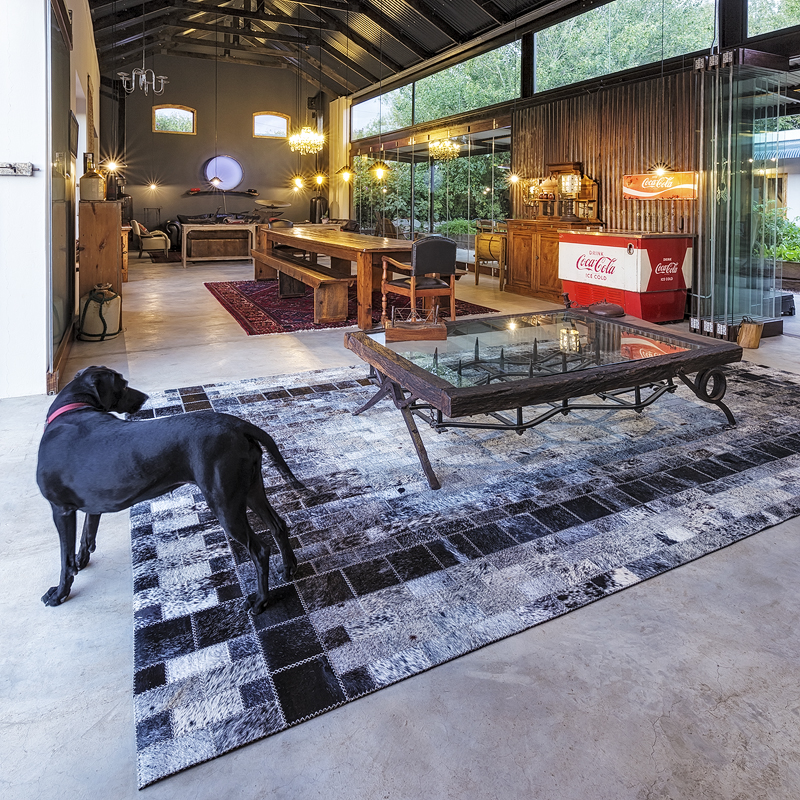 Bespoke Nguni rug by Inkomo